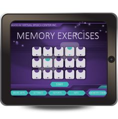 Memory Exercises app was designed to help improve and maintain short-term memory, attention, processing speed, and working memory of those adults who are either challenged due to the aging process or have been diagnosed with mild dementia, or suffered from a stroke and other related brain injuries.