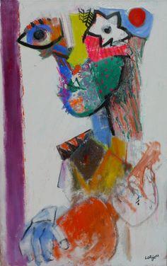 Hippy with mandolin (1973) Bernard Lorjou
