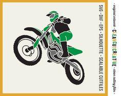 SVG Motocross file svg dirt bike svg file by CleanCutCreative