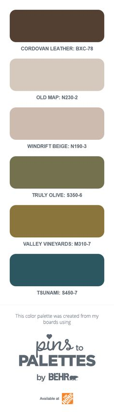 See my color palette using @BEHRPaint Pins to Palettes. Create yours today. #BEHRP2PSweepstakes
