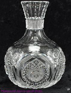~Stunning Antique American Brilliant Period Cut Glass Water/Wine Carafe ~
