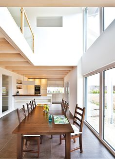 Gut Regnauer Vitalhaus Bernstadt. Luxury HousesModern HousesLoft IdeasBarn HousesHouse  DesignDining TableModern InteriorsHouseholdExtensions