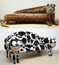 Rodolfo rocchetti from tappezzeria rocchetti is a master upholsterer from rome, and he made some really creative pieces of furniture. now to have something like this in your home you might choose a very wild theme for your home, because these designs can easily make people say omg !.and for the animal lovers out there these are all made from faux fur.