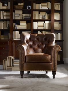 Bradington - Young leather chair - this chair looks like it would fit into a castle-themed house, and still be comfortable