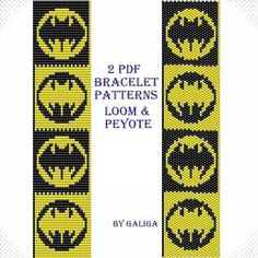 Bat jewelry pattern Halloween pattern Bracelet patterns Halloween bracelet Holiday pattern Halloween bat pattern Yellow black Bat wings