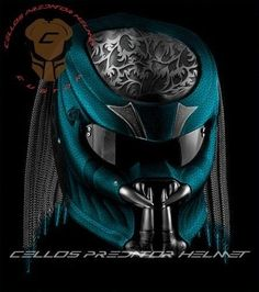 THE AWESOME PREDATOR HELMET MOTORCYCLE STYLE DOT APPROVED  #CELLOS