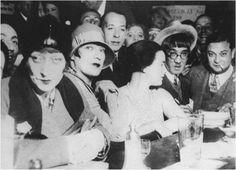 Hermine David, Charlotte Gardel, Broca, Marie Laurencin, derrière elle, Jacqueline, Foujita,
