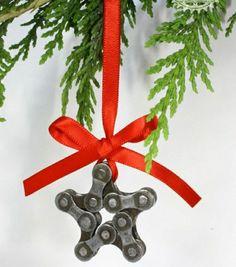 christmas star ornament bike ornament bike chain star bike christmas decoration cyclist gift cycling gift star ornament aud by treadandpedals - Bicycle Christmas Ornament