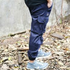 Navy Blue cargo jogger pants from @TeesGoods . #teesgoods