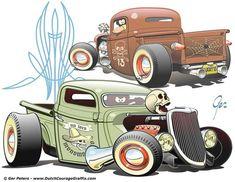 pics of rat rod trucks Rat Rod Trucks, Rat Rods, Rat Rod Cars, Truck Drivers, Dually Trucks, Big Trucks, Chevy Trucks, Cool Car Drawings, Rockabilly Art