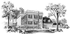 Eplans NeoClassical House Plan - Grand Colonial Entrance - 4690 Square Feet and 4 Bedrooms from Eplans - House Plan Code HWEPL00660