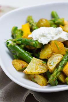 Kartoffelsalat Mit Grünem Spargel Und Mango // Marsmaedchen.net