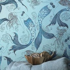 This lazy lagoon wallpaper. | 21 Things You Need To Turn Your Home Into A Mermaid's Grotto