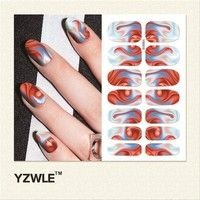 YZWLE 1 Sheet Water Transfer Nails Art Sticker Manicure Decor Tool Cover Nail Wrap Decal (YSD015)