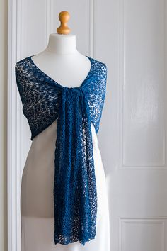 Amazing crocheted lace mulberry silk shawl in hand by The Crimson Rabbit @CrimsonDebbie