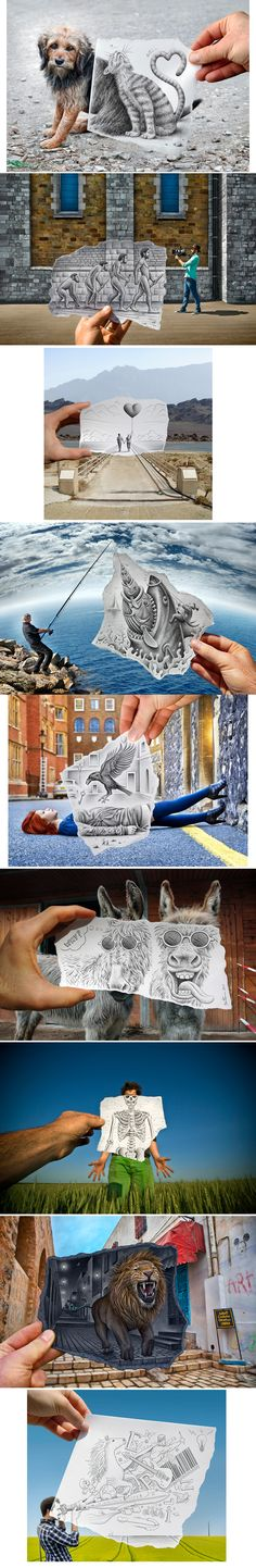 Pencil vs Camera by Ben Heine http://www.benheine.com