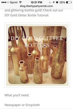 Centerpieces wine bottles