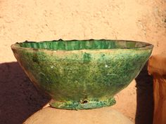 Bowl; Glass Ceramic, Stoneware, Buddha, Ceramics, Tableware, Green, Terracotta, Ceramica, Pottery