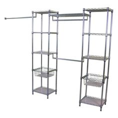Real Organized LO-15141872ZL Metal Deluxe Closet Organizer at Lowe's Canada