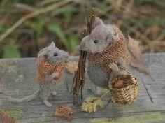 Autumn mice by Natasha Fadeeva, via Flickr