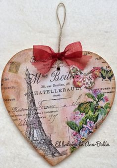 El balcón de Ana-Belén: CORAZÓN...CORAZÓN Heart Decorations, Valentine Decorations, Valentine Crafts, Valentines, Napkin Decoupage, Decoupage Art, Decoupage Vintage, Wooden Hearts Crafts, Heart Crafts