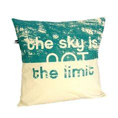 poduszka bawełniana z napisem SKY (55176) od maqu dsgn st...