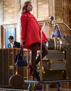 Check into the Hotel de Crillon of Paris with Dree Hemingway and the Louis Vuitton Pre-Fall 2013 Collection. #bags #fashion