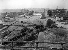 Highway 10 (later Interstate 90) under construction, 1939