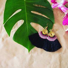 Beautiful handmade Hmong tassle earrings