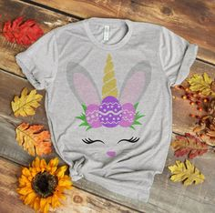 Easter Bunny Unicorn Glitter Unicorn Shirt Bunny Egg | Etsy Easter T Shirts, Unicorn And Glitter, Unicorn Shirt, Heat Transfer Vinyl, Easter Bunny, Mother Day Gifts, Colorful Shirts, Size Chart, Digital Prints