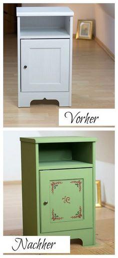 DIY Möbel Kreidefarbe mit Holzwachs zum Shabby Chic - Ich habe die