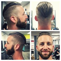 Big mouth filled with one long tooth., Recent works. Trending Hairstyles For Men, Mens Hairstyles With Beard, Popular Mens Hairstyles, Top Hairstyles, Haircuts For Men, Fohawk Haircut, Undercut Fade Hairstyle, Beard Haircut, Undercut Men