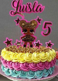Bolo lol surprise chantilly #bolodalol #festainfantil #bolodecorado #lolsurprise Birthday Party Design, Spa Birthday Parties, Birthday Party Decorations, Doll Birthday Cake, Funny Birthday Cakes, Lol Doll Cake, Shopkins Cake, Ballerina Cakes, Disney Cakes