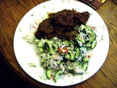 Rick Stein's Beef Rendang with Cucumber and Coconut Salad