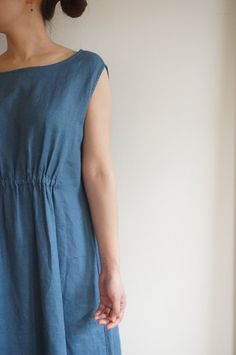 d55922896a8c loose dress with some elastic in the front Fog Linen