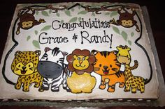 Jungle Baby Shower Sheet Cakes : Ideas for Jungle Theme Baby ...