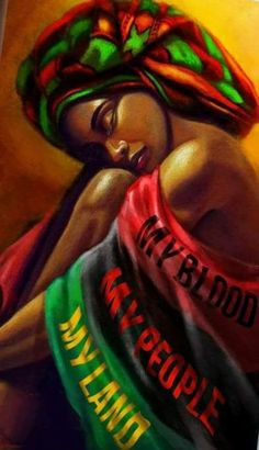 History of Black Self-Hatred in the styling of Black Hair during & after Slavery in the Black African American History video documentary: The Inferiority Seed Black Art Painting, Black Artwork, Black Love Art, Black Girl Art, Red Black, Jamaican Art, Afrique Art, African Art Paintings, Black Art Pictures