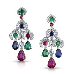 Devotion Multi-coloured Earrings Faberge