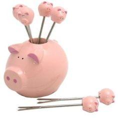 pig cocktail picks