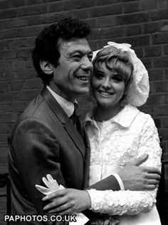 Lionel Blair with his wife Susan at their 1967 wedding.