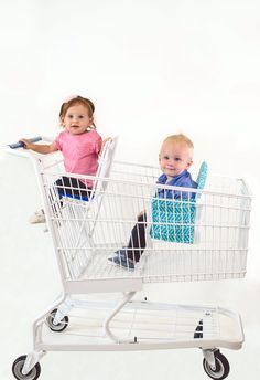 Buggy Bench makes shopping with 2 so much easier! Perfect for a mom with 2 young kids or twins! Buggy Bench securely straps to any size shopping cart and keeps your child safely buckled inside. Holds up to 40 pounds and is machine washable! Purchase yours today at www.buggybench.com Tags: shopping with kids, shopping with twins, triplets, multiples, toddlers, babies, baby gear, baby products, mom hack, double cart, grocery shopping, baby carrier