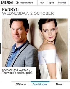 professorfonz:  eenumbers:  Loving the BBC Homepage this morning~  They saw the opportunity and they took it.