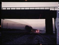 Train departure Chicago, Dec. 1942