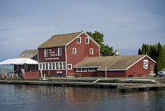 Old Dock House restaurant in Essex on Lake Champlain. More at www.essexonlakechamplain.com
