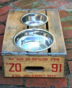 Hundenapfständer Holzkiste