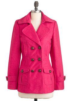 Saucy Saffron Coat in Pink, #ModCloth