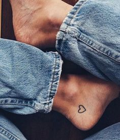 heart tattoo on toe