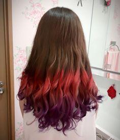 WEBSTA @ megane9429 - 友達染めてあげた!喜んでくれたので良かったです(´・∀・) #マニパニ #ロングヘア #派手髪