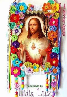 Sagrado Coração de Jesus, um estandarte by Lidia Luz, via Flickr