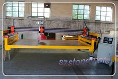 With CNC cutting programm multi functional stone cutter